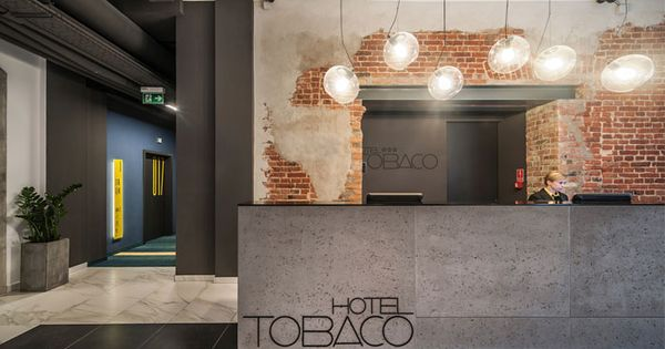 Modern Hotel With Industrial Background interior steel gray