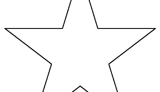 8 Inch Star Pattern. Use The Printable Outline For Crafts