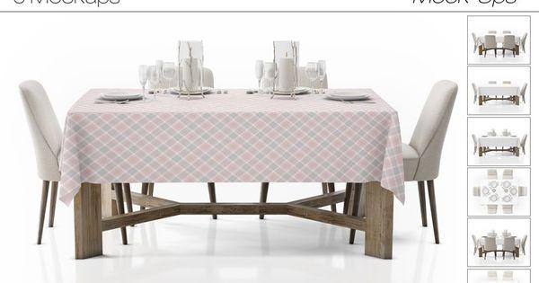 Tablecloth Mockup Set 82851 Mockups Design Bundles Table Cloth Mockup Design Mockup