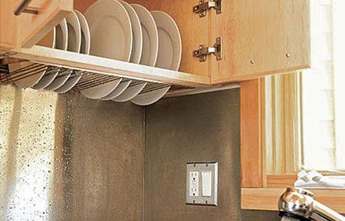 Tiny House Kitchen Storage | Genius Dish Storage & Drainage Idea for