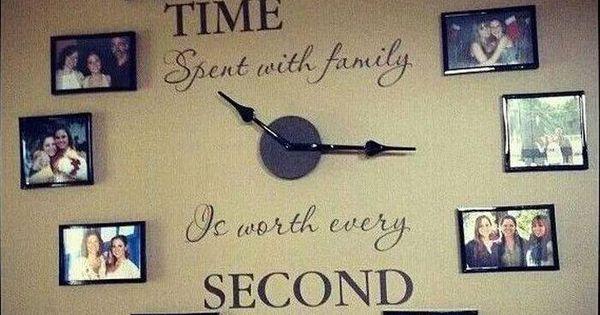 Que piensas de esta idea de decoraci n en vez de los - Cuadros con fotos familiares ...