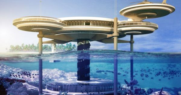 The Water Discus hotel in Dubai is intended to provide a luxury