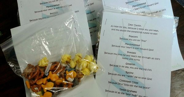 Father's Day Trail Mix - Free Printable Perfect for Kid's ...