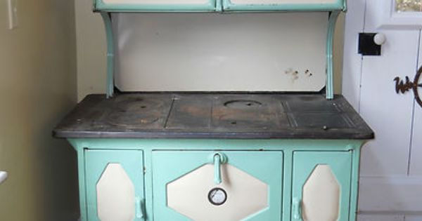 Antique 1930 S Kalamazoo President Stove Wood Cook Green