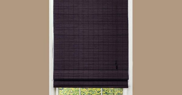 Home decorators collection espresso beveled reed weave bamboo roman shade 46 in w x 48 in l Home decorators collection bamboo blinds