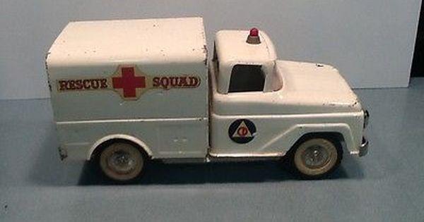 Toys For Trucks Everett : Vintage tonka rescue squad van pressed steel