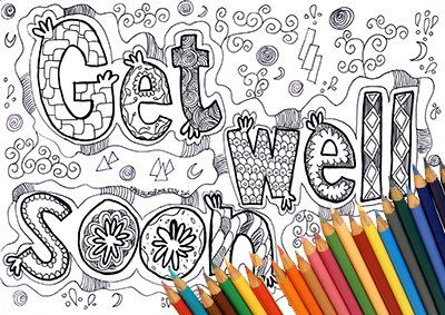 Coloring Page Coloring Page Get Well Get Well Soon Coloring