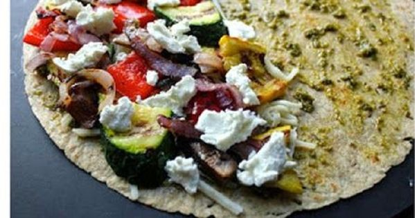 Grilled Vegetable Quesadillas fastfood healthy veggielove