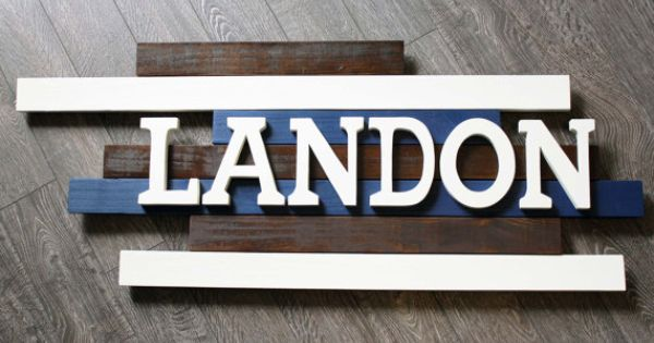 Landon Wooden Name Sign Wooden Nursery By