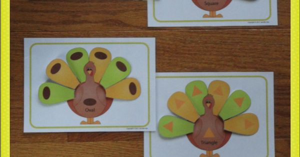 Turkey shape sort pre math activity for preschool and pre for Pre k thanksgiving crafts