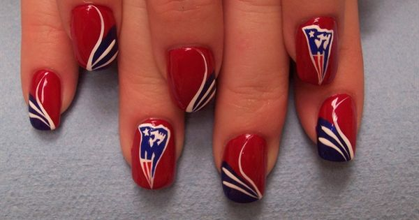 NFL New England Patriots nail art -