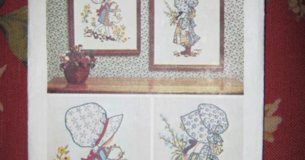 Line Art Quilt Pattern Holly Hickman : Simplicity vintage holly hobbie embroidery pattern