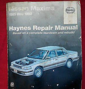 Advertisement Ebay Haynes Repair Manual Nissan Maxima 1985 1992 In 2020 Nissan Maxima Repair Manuals Chilton Repair Manual
