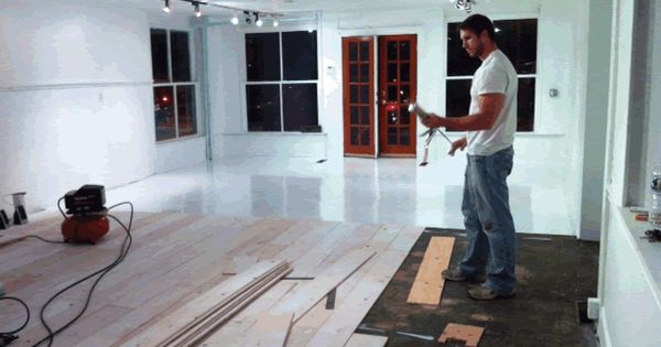 Using plywood yes plywood for your wood floors super for Cheap durable flooring ideas