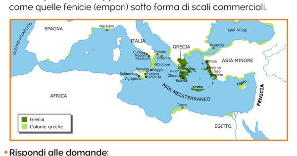 Cartina Della Grecia Antica In Italiano.Le Colonie Greche Schede Didattiche Per La Scuola Primaria Scuola Grecia Storia Antica