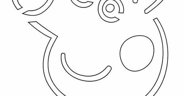 Peppa Pig Jack-o-lantern Cutout