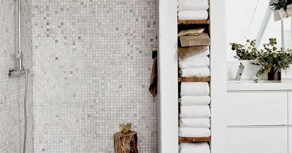 speicherm glichkeiten f r ihr badezimmer regal f r handt cher einrichtung pinterest basteln. Black Bedroom Furniture Sets. Home Design Ideas
