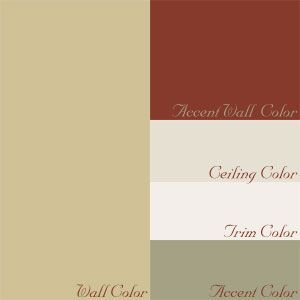 French Country Cottage Paint Color Palette Google Search Cottage Paint Colors Red Accent Wall French Country Decorating