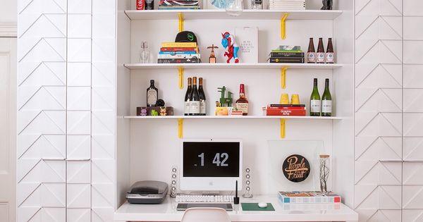 20 id es pour agencer et d corer un bureau bureaux blancs chaises eames et eames. Black Bedroom Furniture Sets. Home Design Ideas