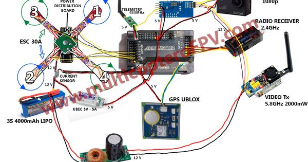 arducopter wiring arducopter image wiring diagram plano de conexiones de arducopter apm 2 6 con gps telemetr a y on arducopter 2 6 wiring