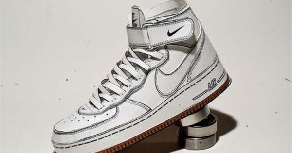 Nike Air Force 1 de Shin Tanaka   Paper shoes, Shoe template