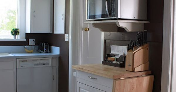 Microwave Nook This Would Be Useful In Our Teensy Kitchen