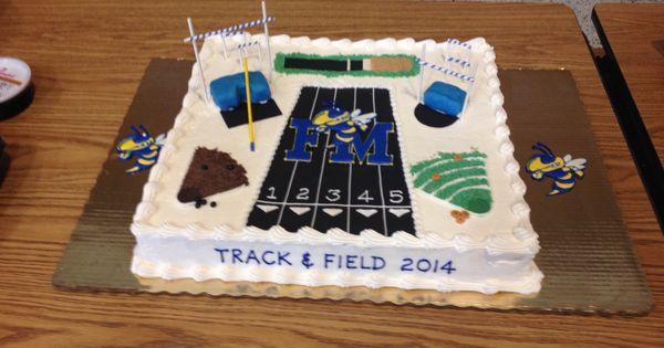 Running Track Birthday Cake