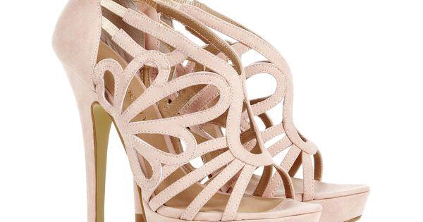 Pink cutout heels