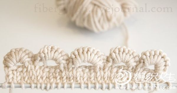 Knitting Edges Together : Scallop crochet edges and knitting together tutorial