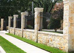 Metal Fences Atlanta Georgia Ga Metal Fencing Metal Fence Brick Fence Fence Design