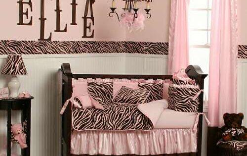 baby girl nursery ideas, easy on the zebra print.