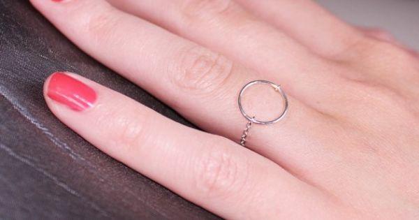 bague chane argent 925 et grand anneau