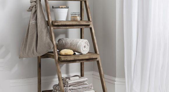 Bathroom storage ideas pinterest - Canvas Of Cottage Bathroom Look Add This Bathroom Ladder