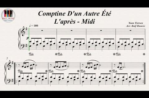 Comptine D Un Autre été Guitare Tab Comptine D Un Autre Ete L Apres Midi Yann Tiersen Long