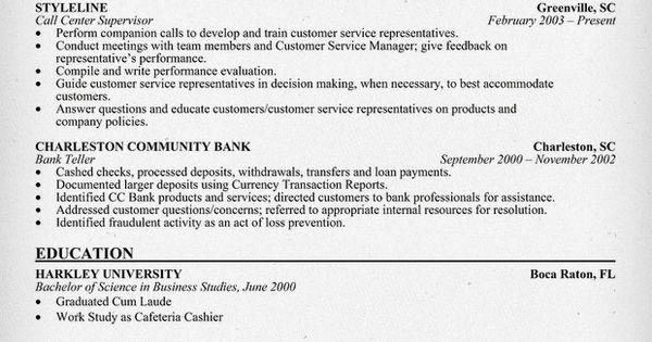 customer service  supervisor resume sample
