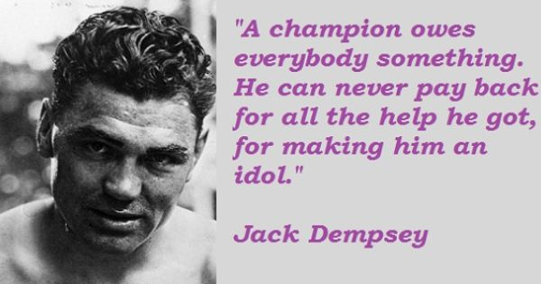 Jack Dempsey Quotes Quotes Picture Quotes Quotations