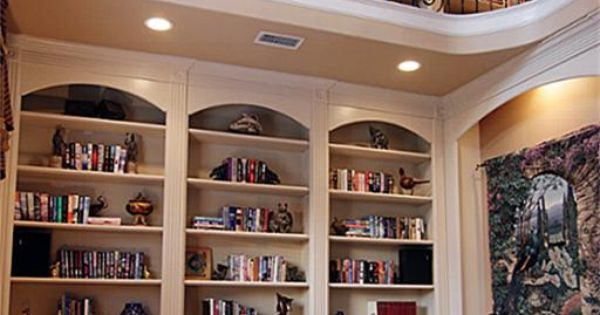 Two story library!