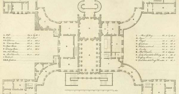 18th century england plan kedleston 1760s derbyshire for 18th century house plans