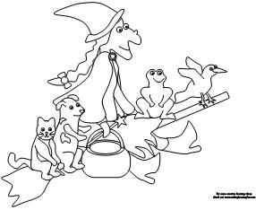 Making Learning Fun Room On The Broom Coloring Pages Opetus