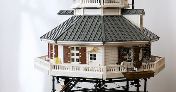 LEGO Whale Rock Lighthouse by Neverroads, via Flickr