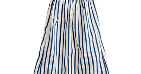 Girls' striped sateen dress