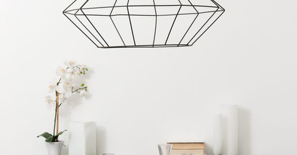 Suspension En M Tal Noire L 57 Cm Origami Nos Luminaires Pinterest Suspension En M Tal