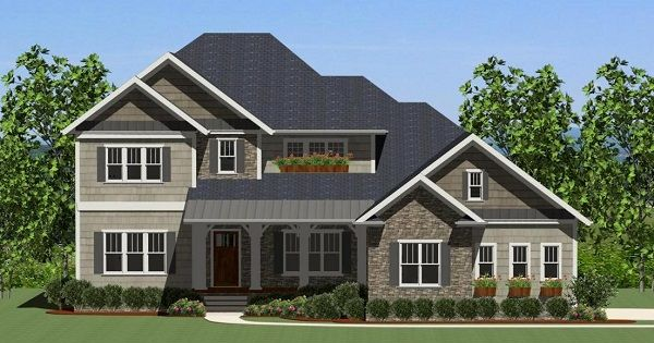 One Of Our Newest Craftsman House Plans The Brookhaven Is