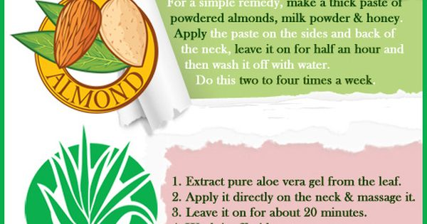 how to get rid of dark skin on neck