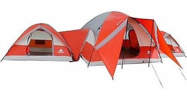 NEW! 10 Person Cabin Tent 3 Connecting Room Family Hiking