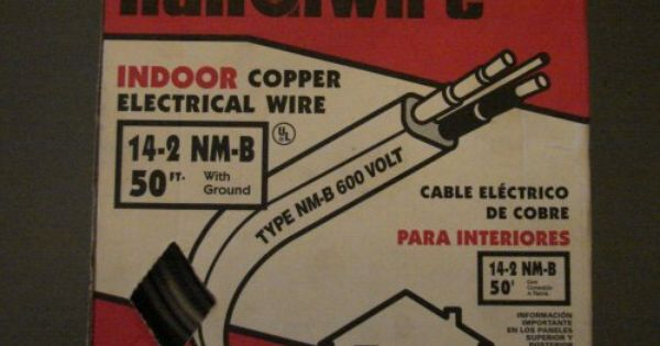 Diamond Handiwire Essex Indoor Copper Electrical Wire 14 2 Nm B 50 Feet With Ground Stock Number 04142310 Copper Electrical Wire Electrical Wiring Electricity