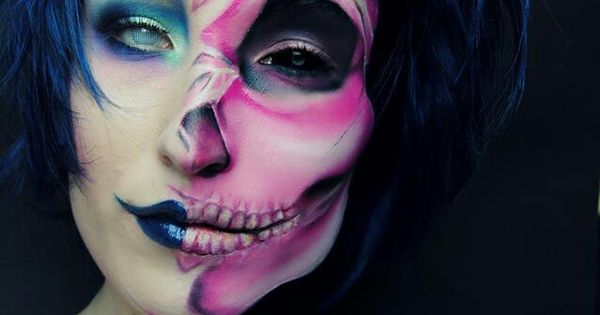 Funny Halloween makeup  - photo