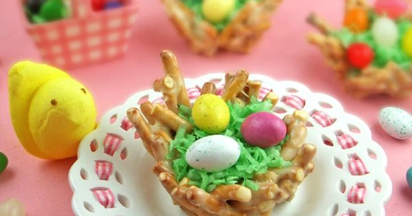 Click Pic for 50 Easter Dessert Recipes | Spring Nests | Easter