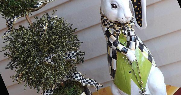 Alice In Wonderland Tall White Rabbit Statue With