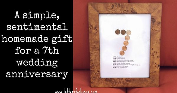 7 Year Wedding Anniversary Gift Ideas For Him: A Simple Gift Idea For Your 7th Wedding Anniversary Via